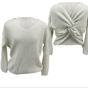 Miracle cross back crop sweater